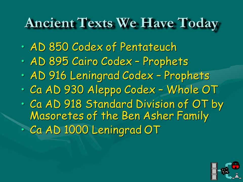 Ancient Texts We Have Today