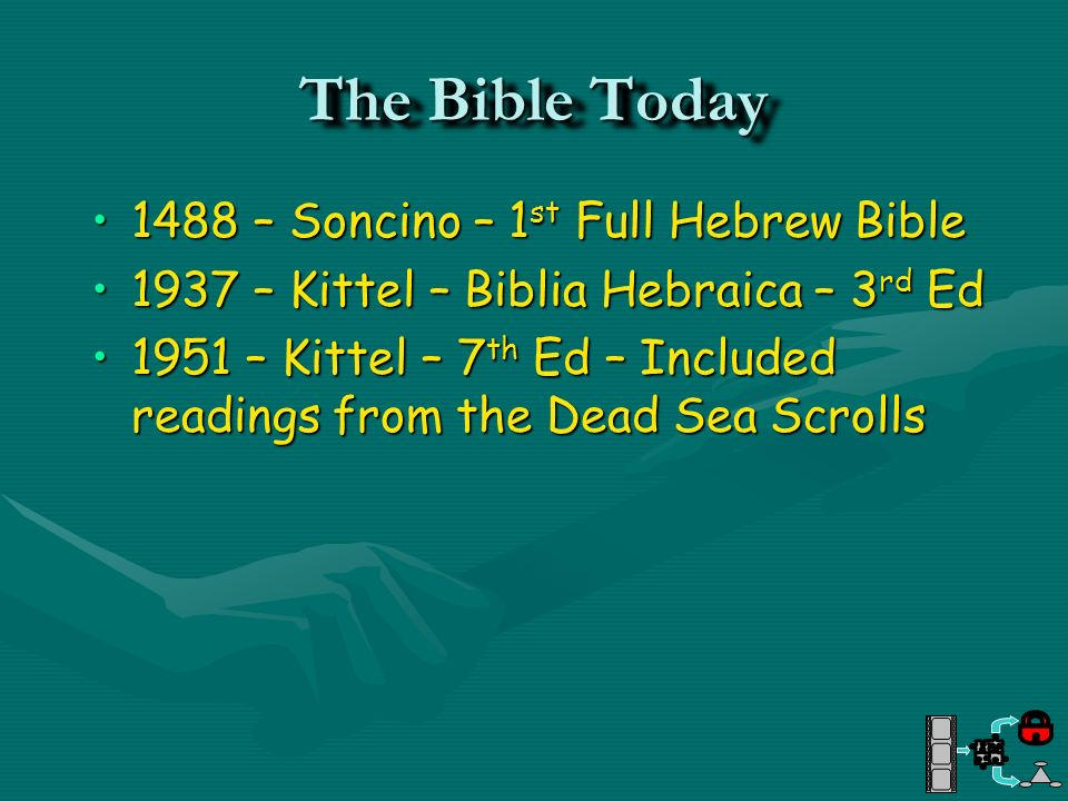 The Bible Today 1488 – Soncino – 1st Full Hebrew Bible