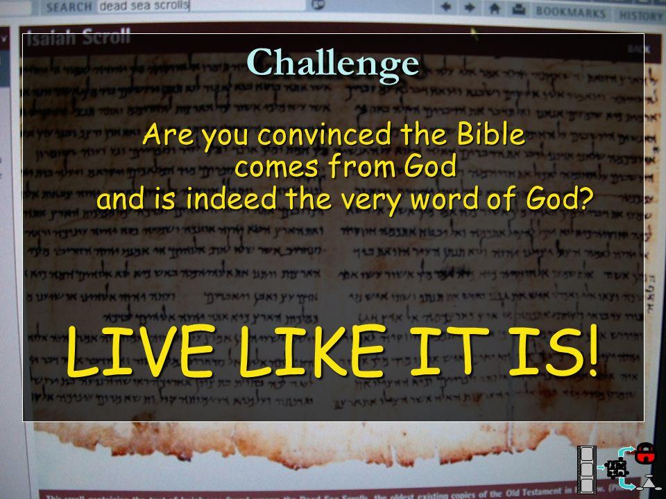 LIVE LIKE IT IS! Challenge