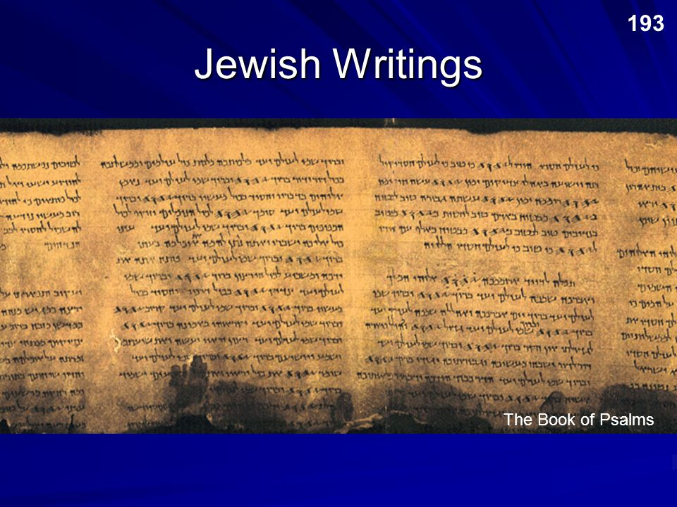 193 Jewish Writings The Book of Psalms