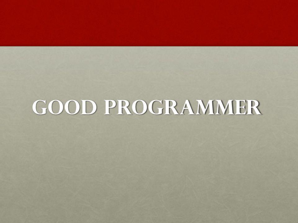 Good Programmer