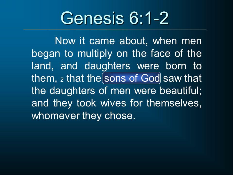 Genesis 6:1-2