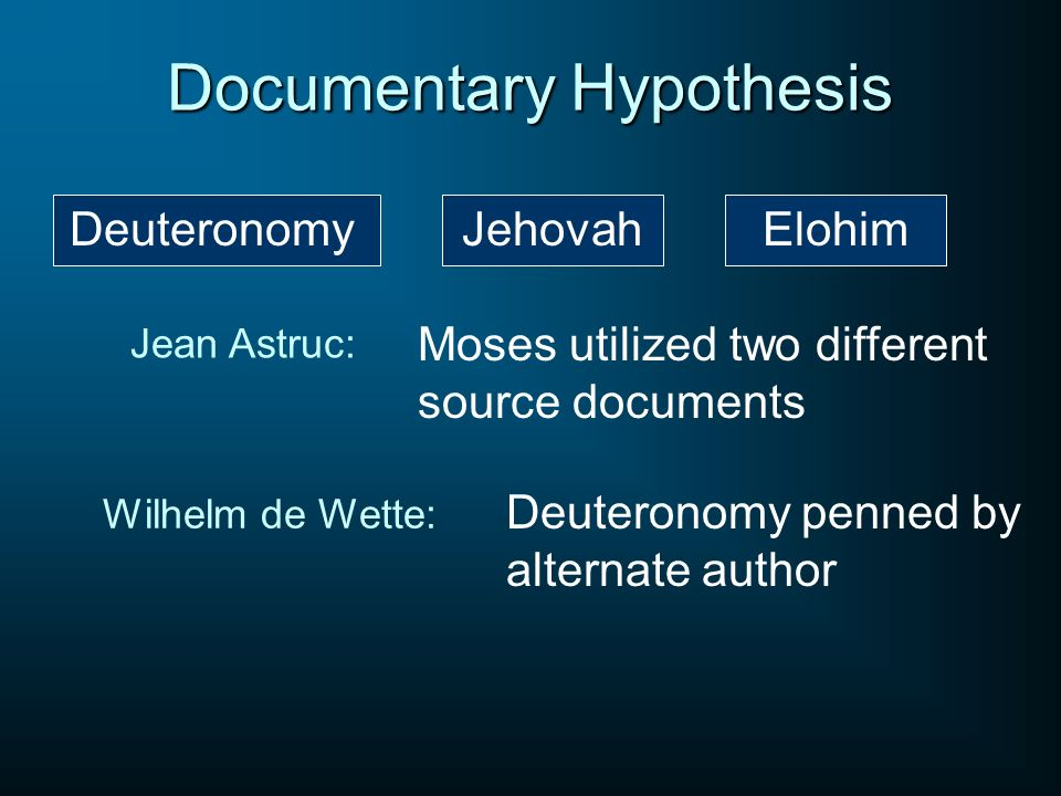 Documentary Hypothesis