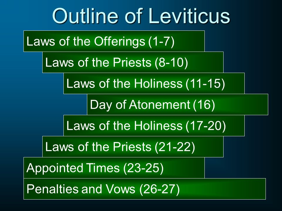 Laws of the Offerings (1-7)