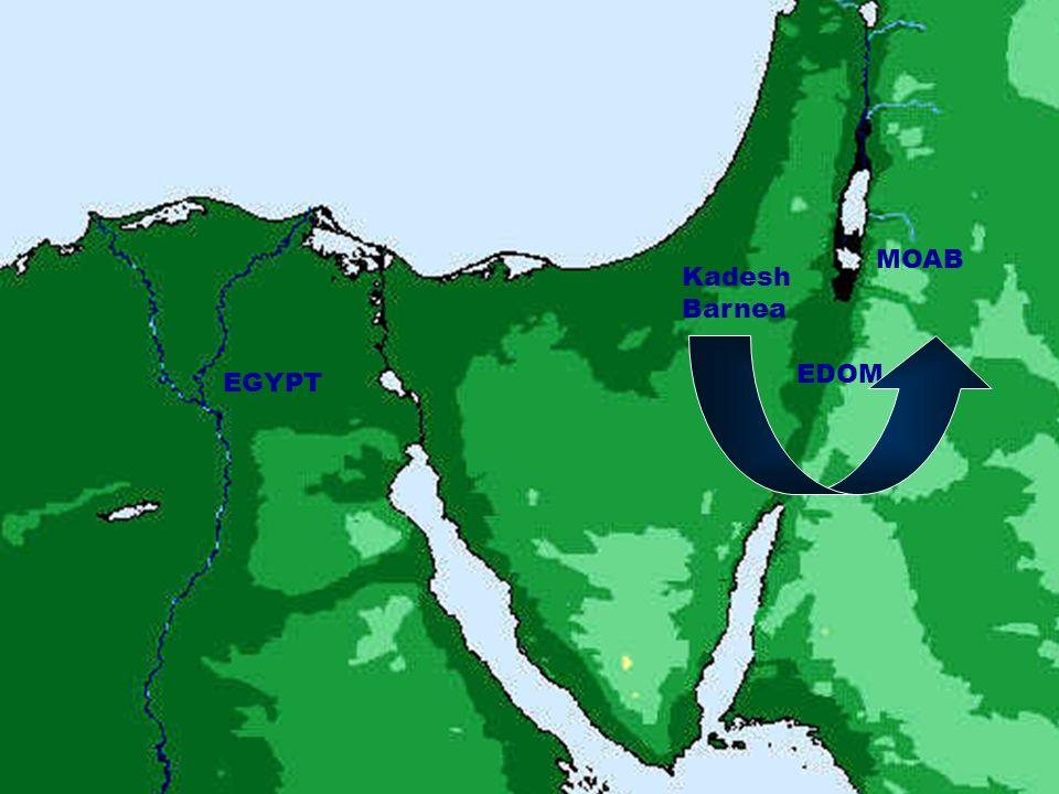 MOAB Kadesh Barnea EDOM EGYPT