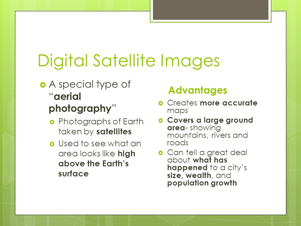 Digital Satellite Images