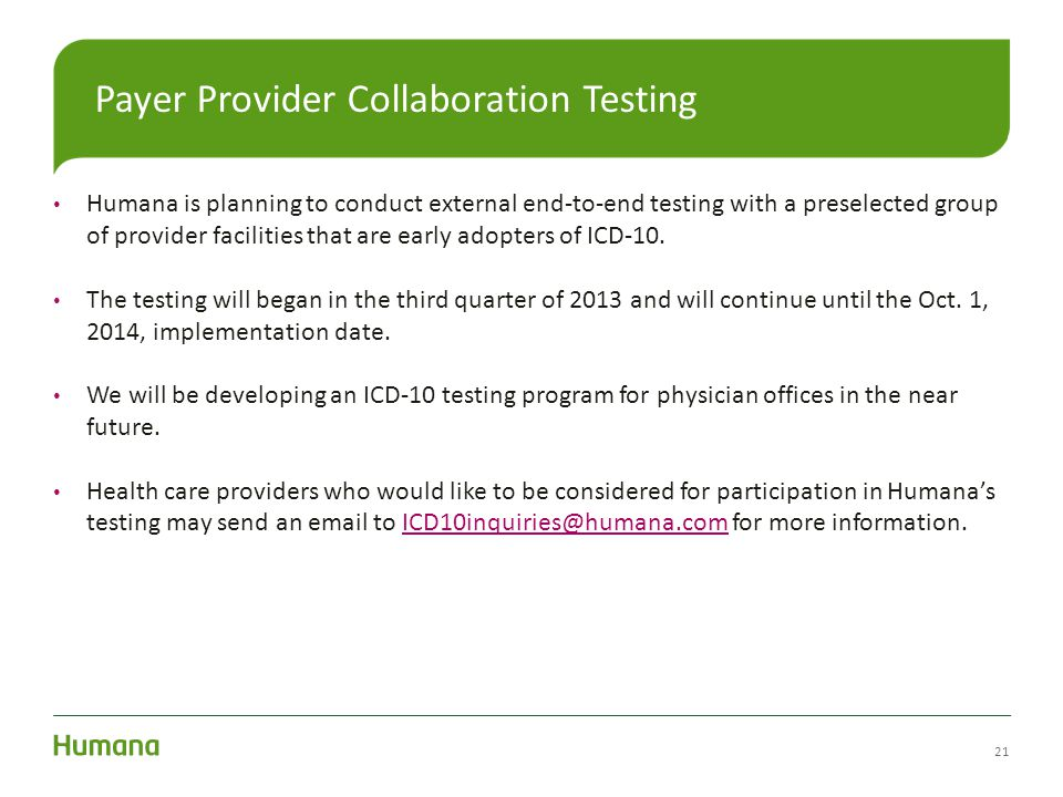 Payer Provider Collaboration Testing