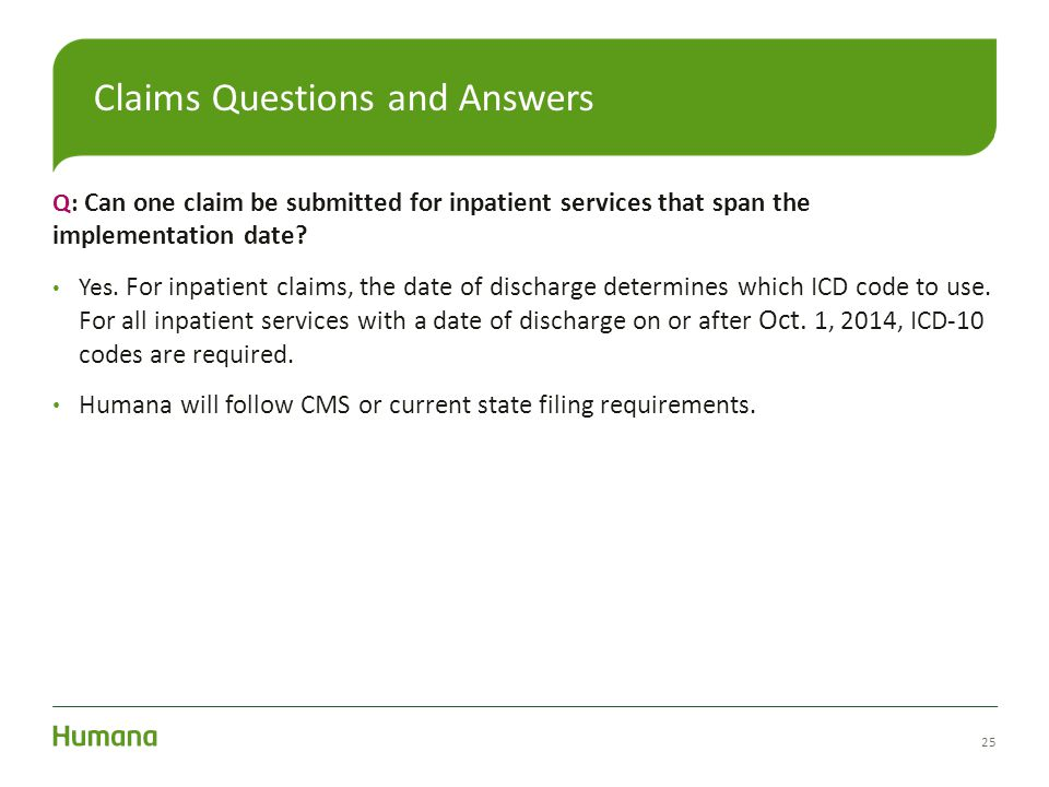 Claims Questions and Answers
