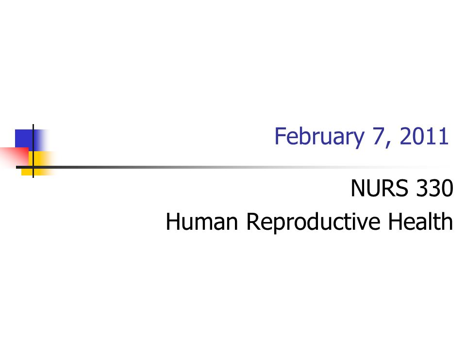 NURS 330 Human Reproductive Health