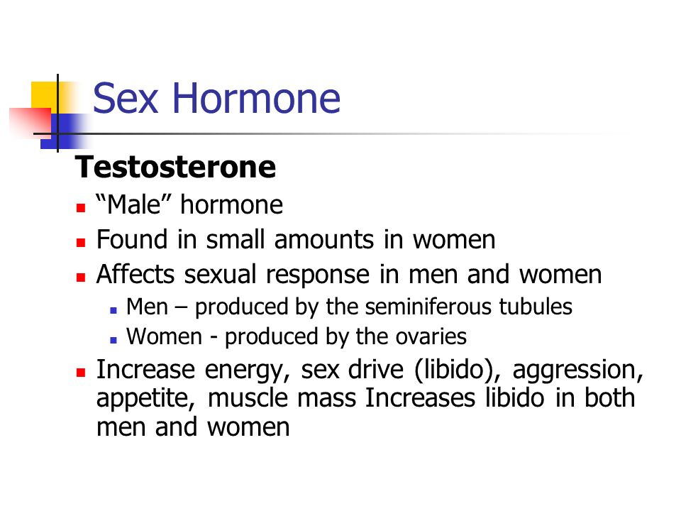Sex Hormone Testosterone Male hormone