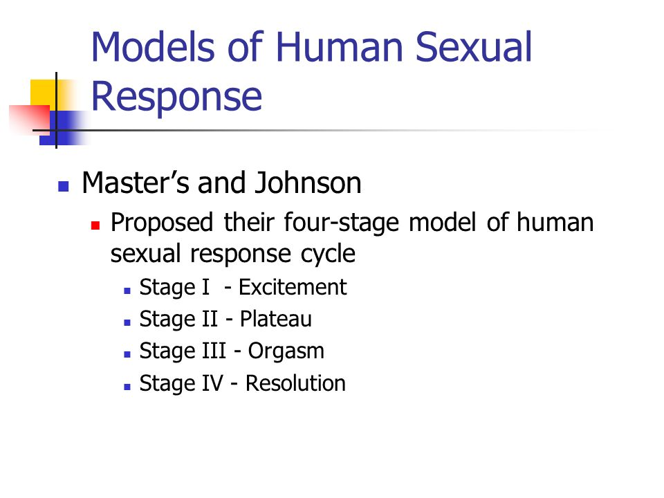 Models of Human Sexual Response