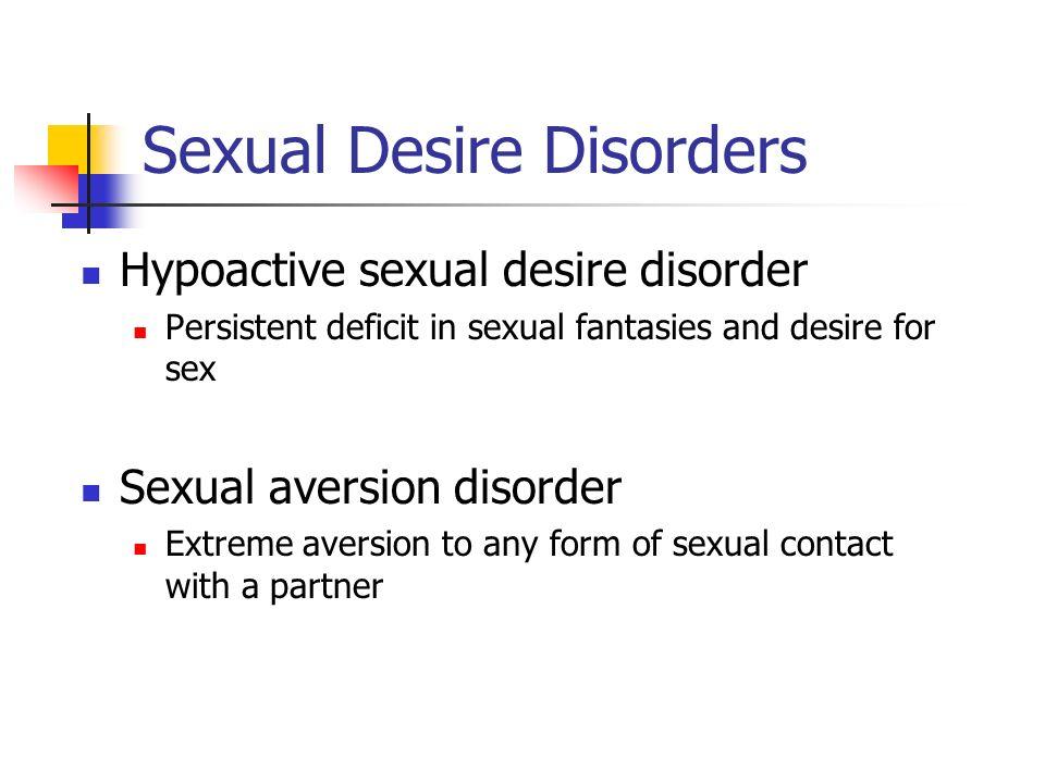 Sexual Desire Disorders