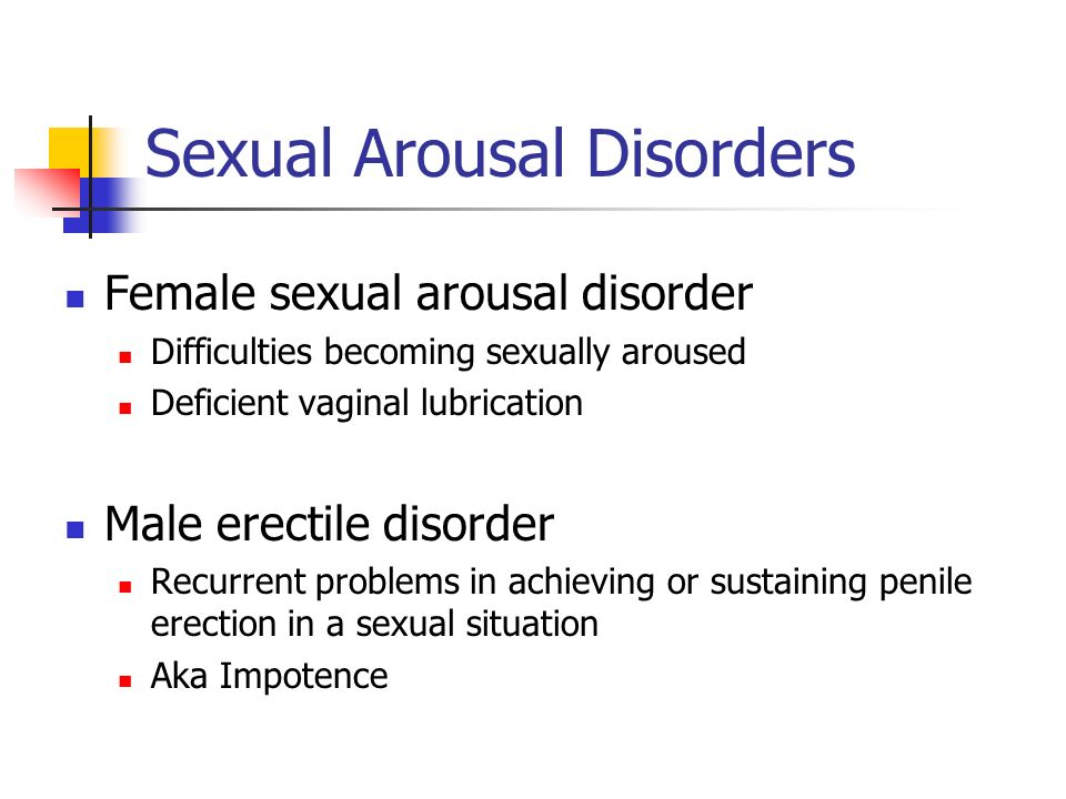 Sexual Arousal Disorders