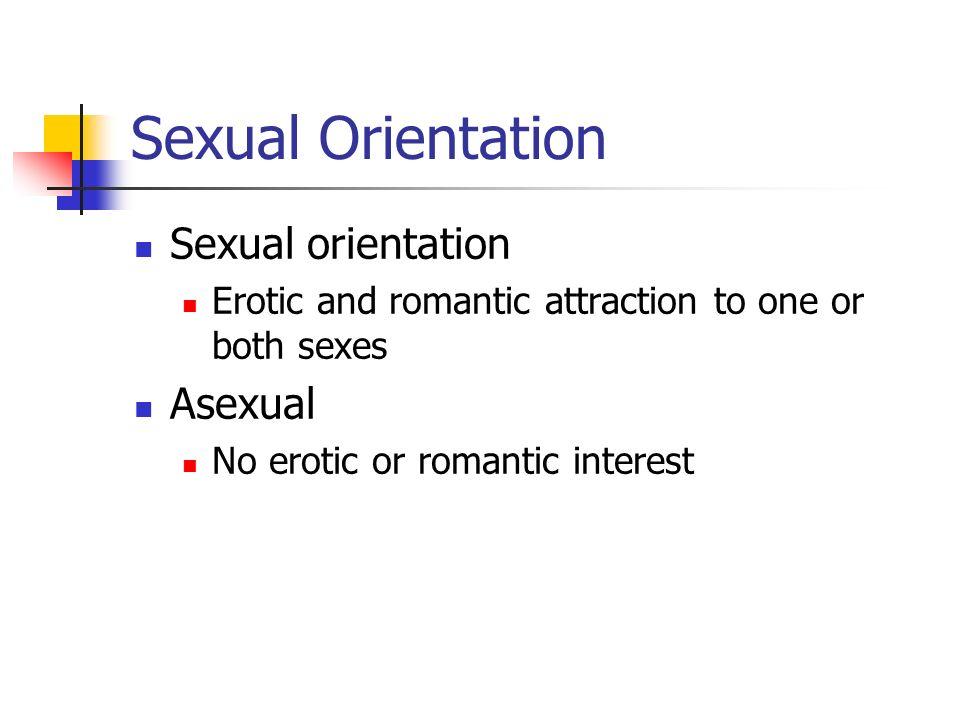 Sexual Orientation Sexual orientation Asexual