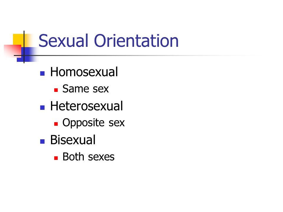 Sexual Orientation Homosexual Heterosexual Bisexual Same sex