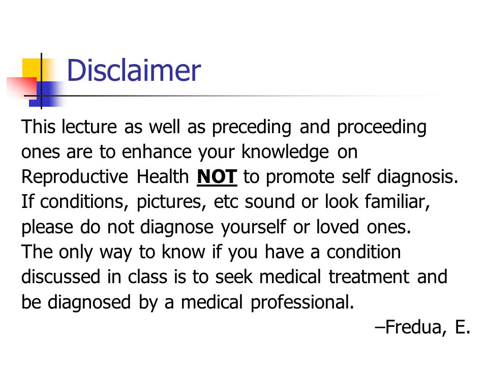 Disclaimer This lecture as well as preceding and proceeding
