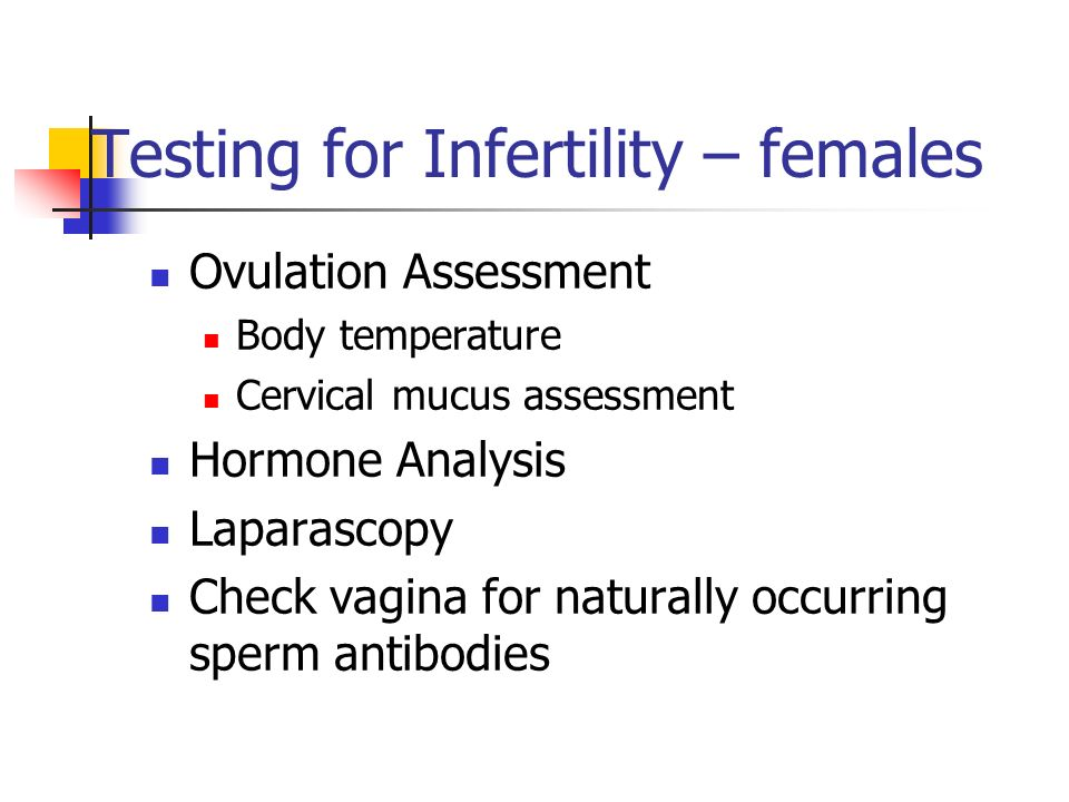 Testing for Infertility – females