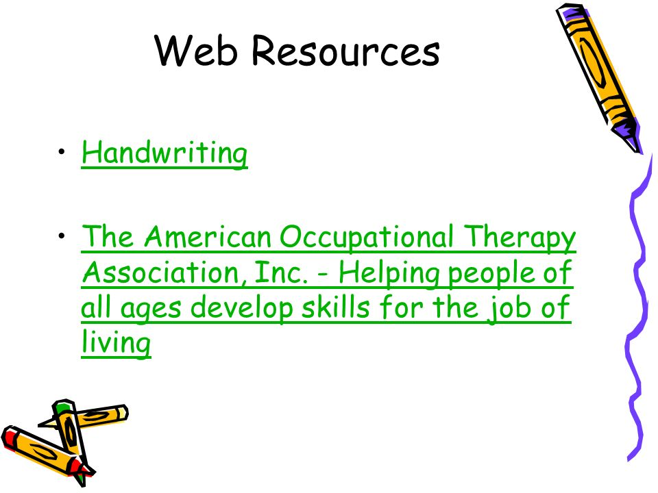 Web Resources Handwriting
