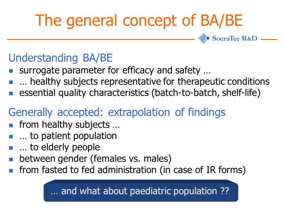 The general concept of BA/BE