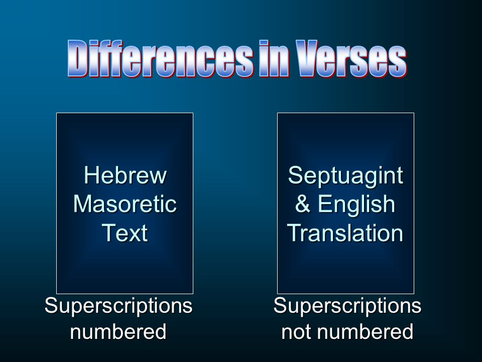 Septuagint & English Translation