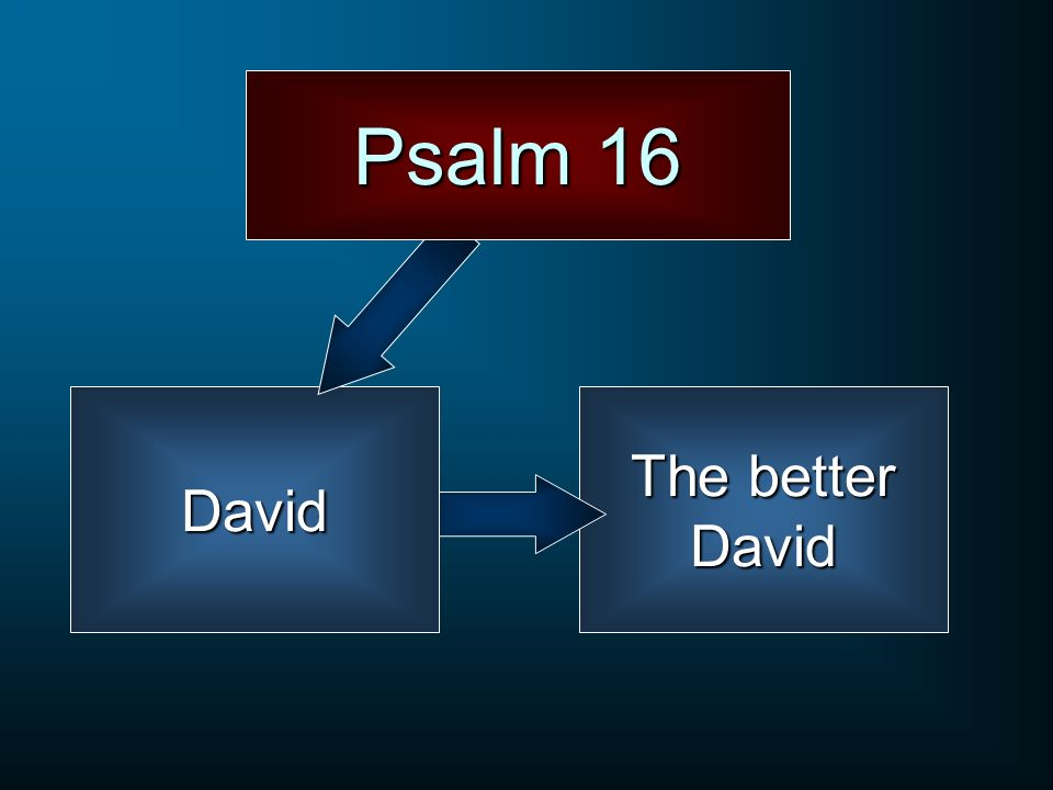 Psalm 16 David The better David