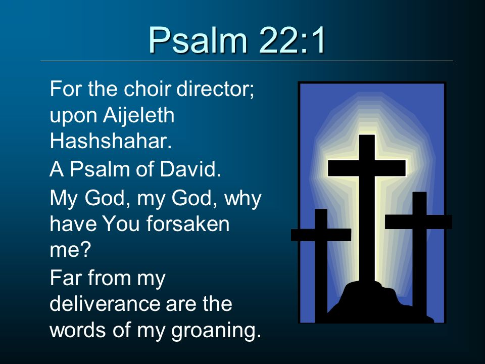 Psalm 22:1 For the choir director; upon Aijeleth Hashshahar.