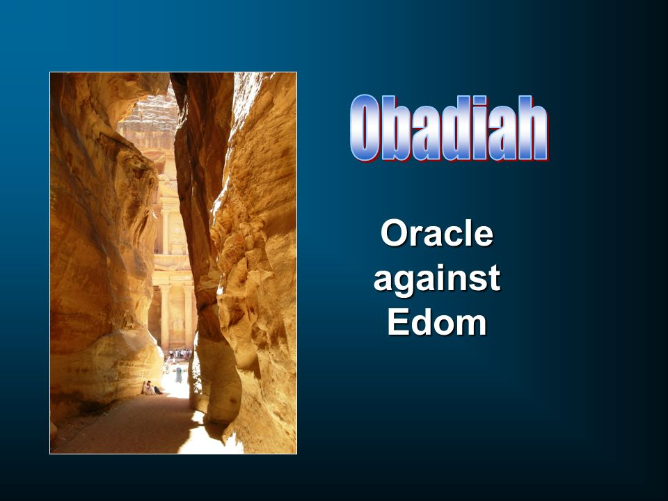 Obadiah Oracle against Edom