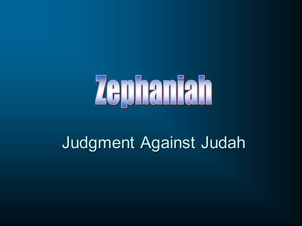 Judgment Against Judah