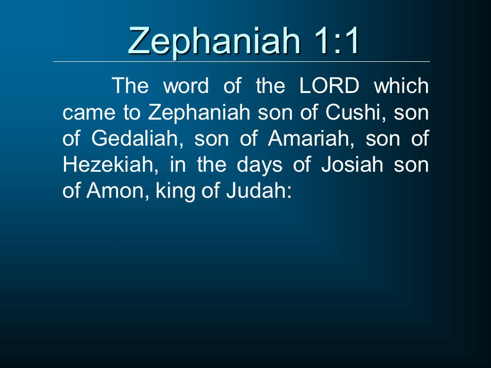 Zephaniah 1:1