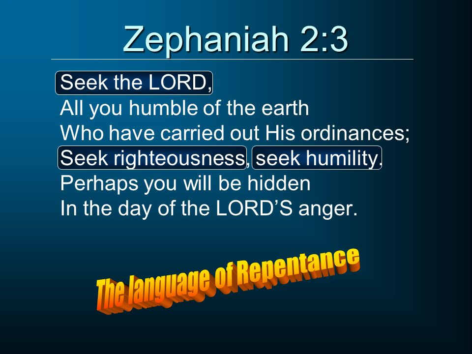 The language of Repentance