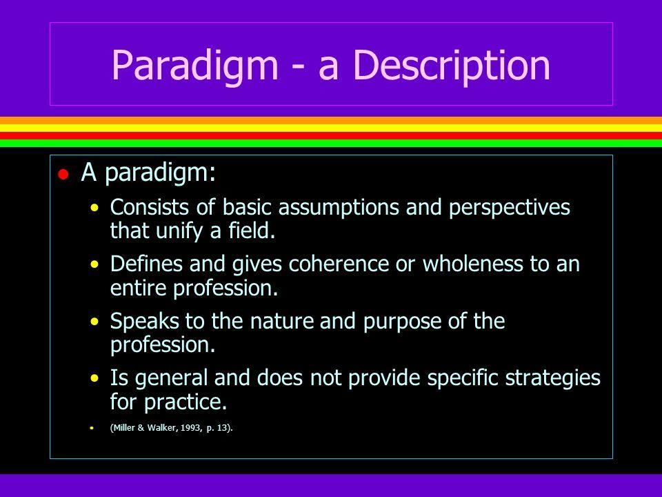 Paradigm - a Description