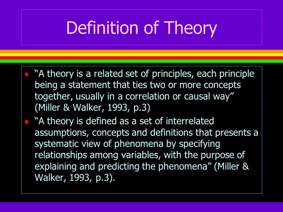 Definition of Theory