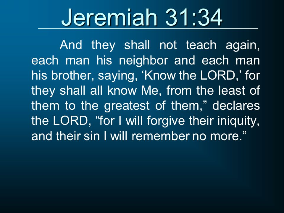 Jeremiah 31:34