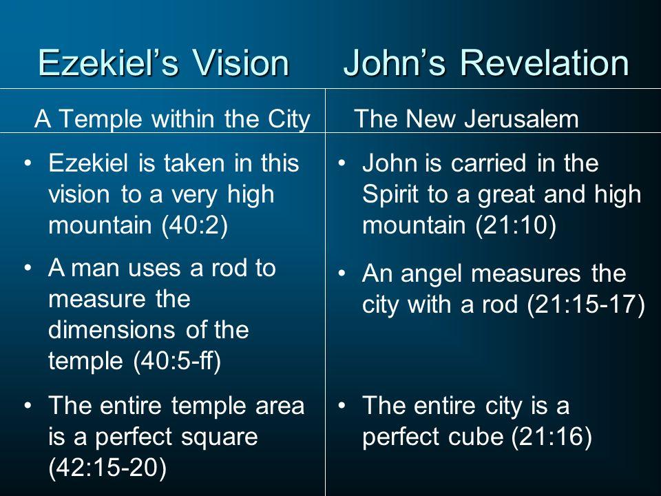 Ezekiel's Vision John's Revelation