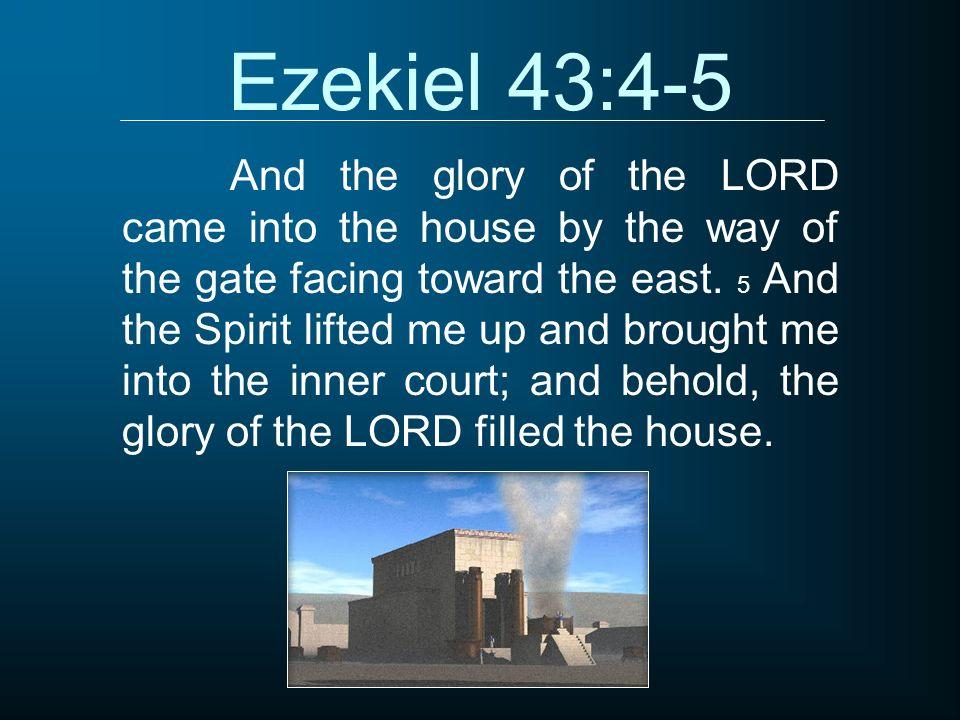 Ezekiel 43:4-5