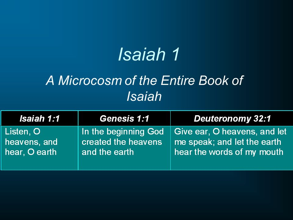 A Microcosm of the Entire Book of Isaiah