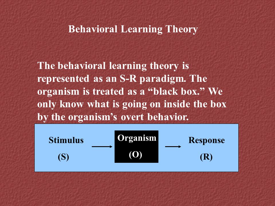 Behavioral Learning Theory
