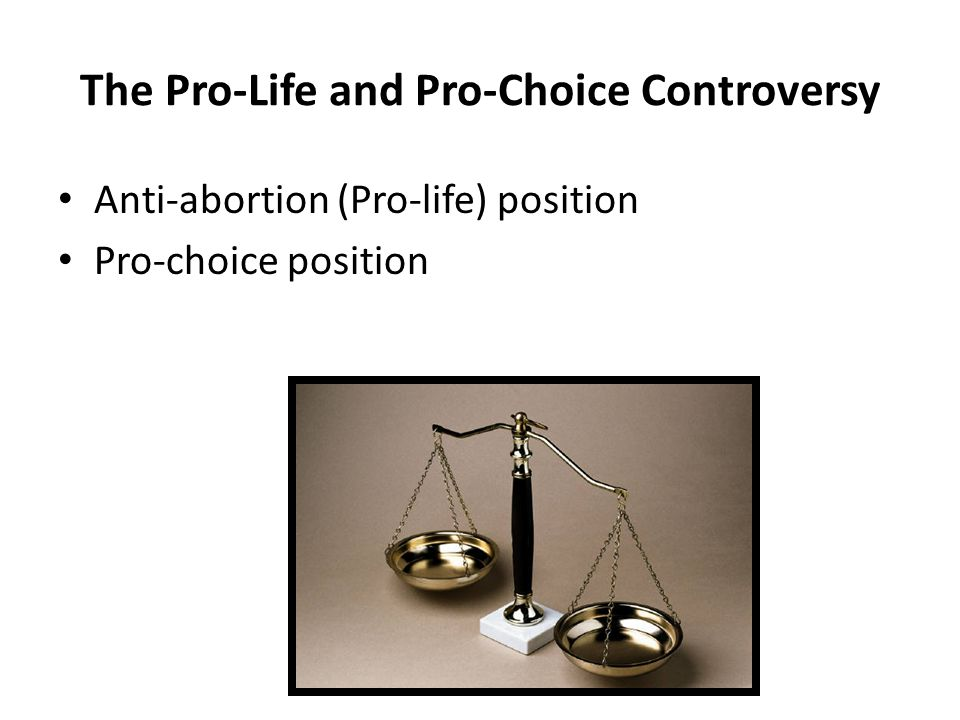 The Pro-Life and Pro-Choice Controversy