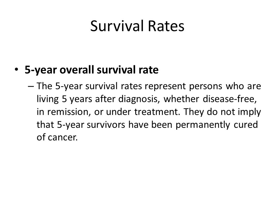 Survival Rates 5-year overall survival rate