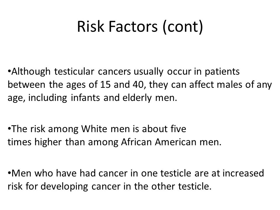 Risk Factors (cont)