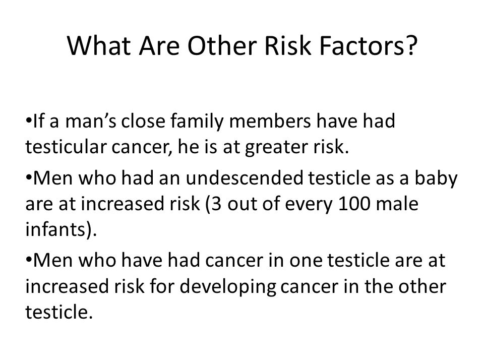 What Are Other Risk Factors