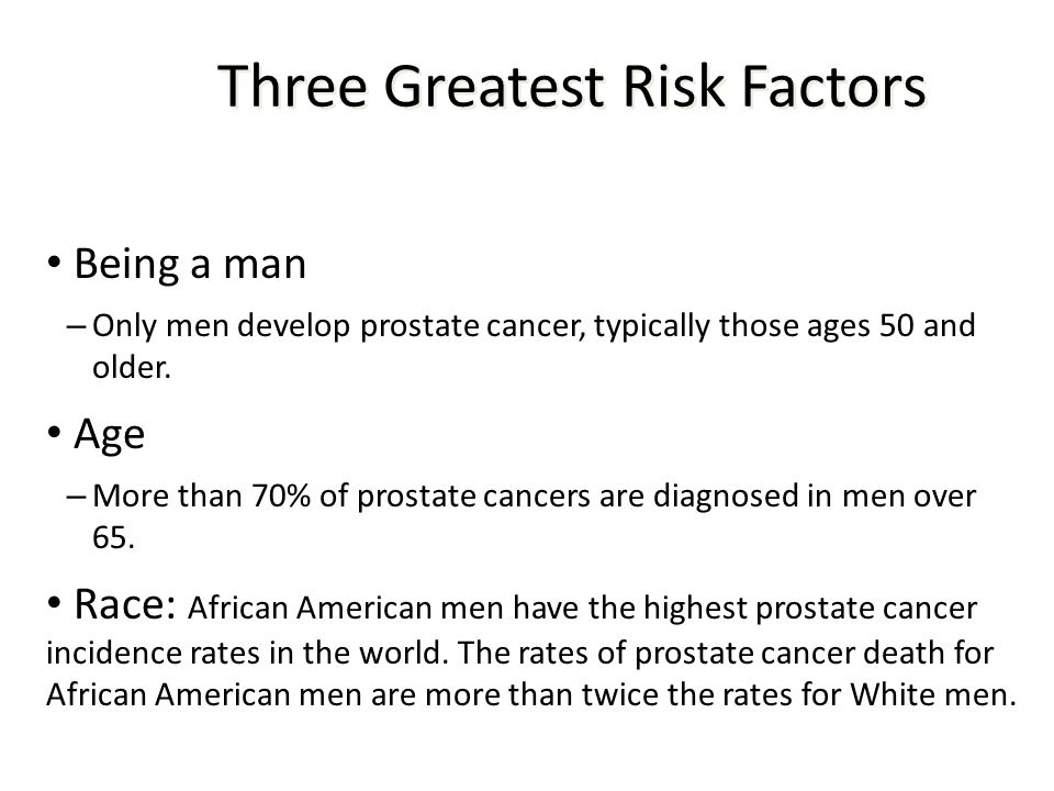 Three Greatest Risk Factors
