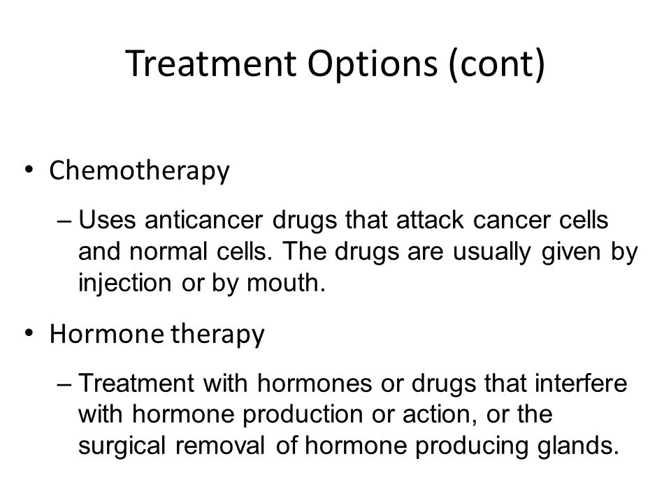 Treatment Options (cont)