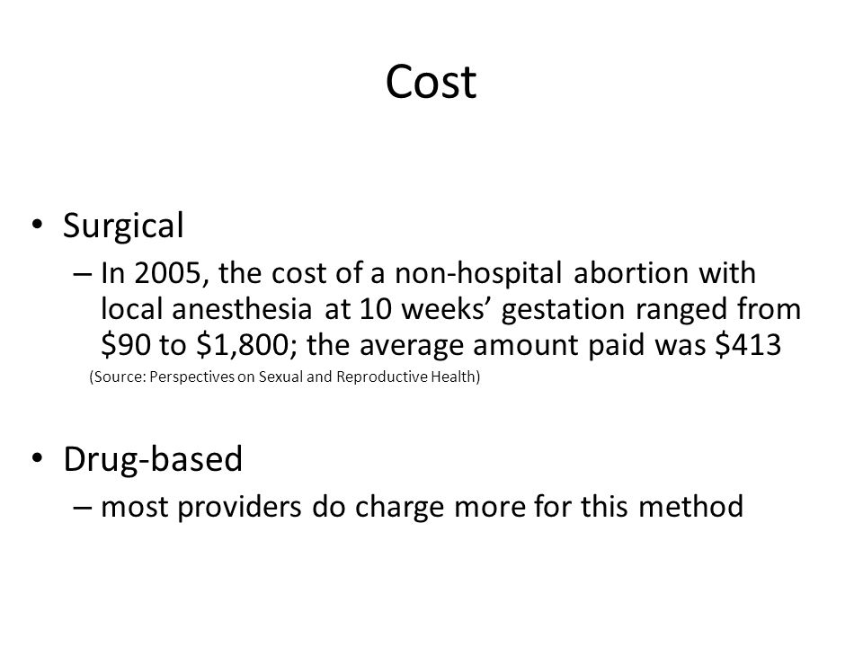 Cost Surgical Drug-based