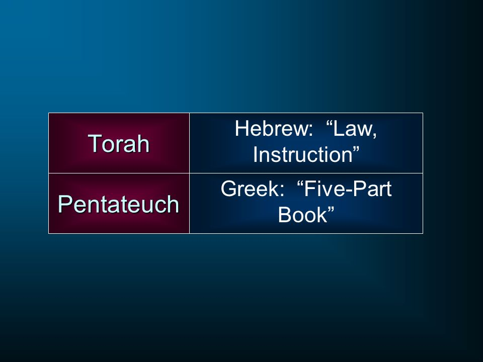 Hebrew: Law, Instruction
