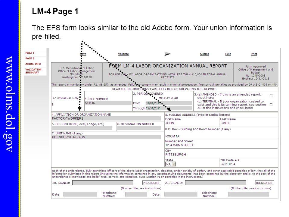 www.olms.dol.gov LM-4 Page 1