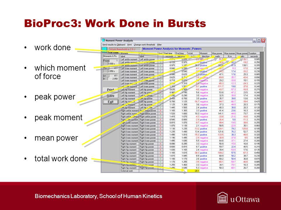 BioProc3: Work Done in Bursts