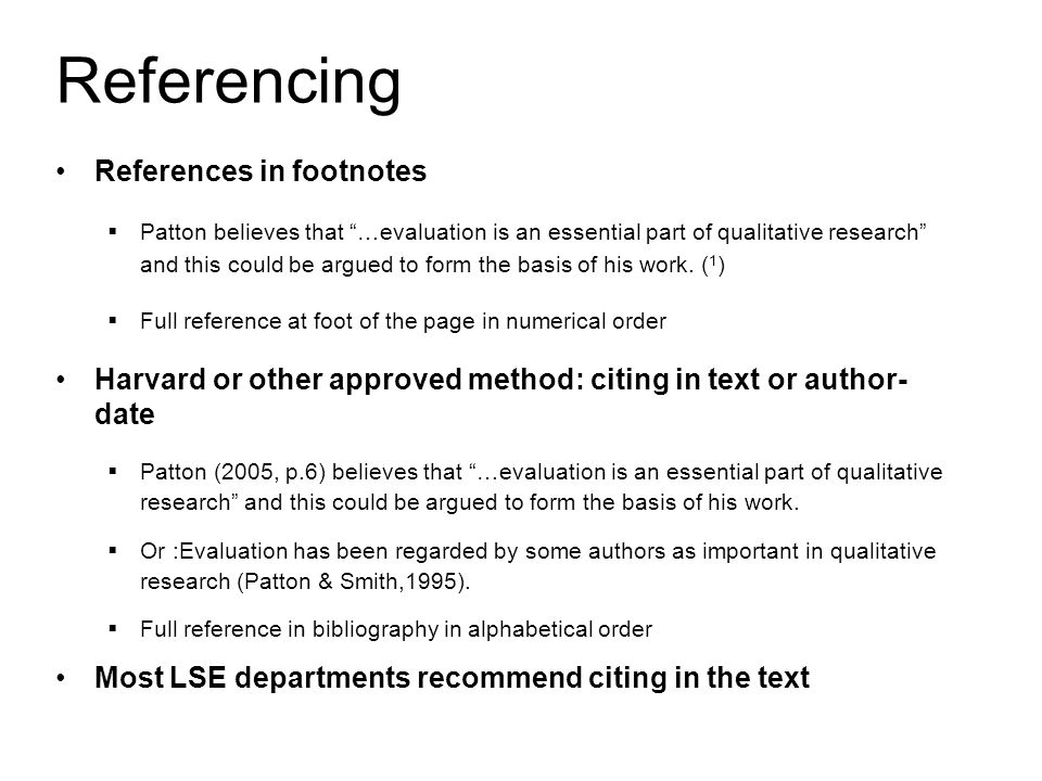 Referencing Essays Footnotes Homework Example
