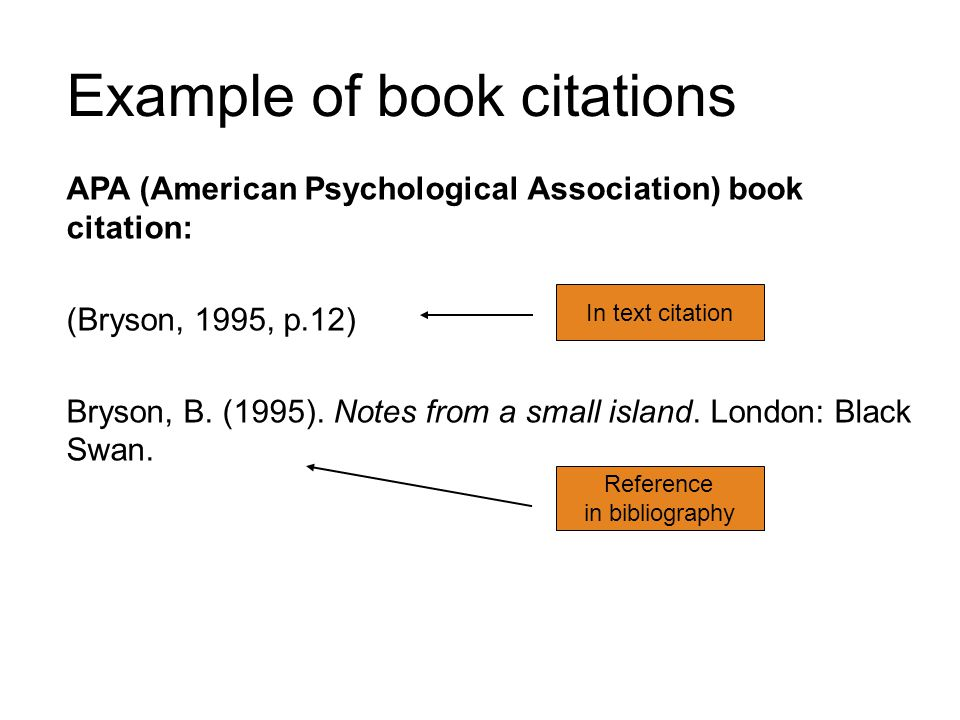 Example of book citations
