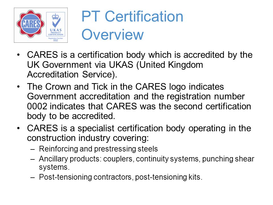 PT Certification Overview